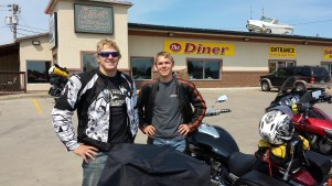 Robbie and I on the way to Sturgis