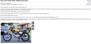 About the funniest Craigslist ad I've ever read.