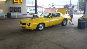 Cool Camaro at Gas station