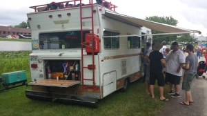 RingBrothers party camper. You see they let me brand their gas tank with a MyWheelLife.com decal. cool guys who build awesome vehicles! Check them out.