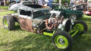 Crazy twin turbo small block Chevrolet rat truck. The turbos were from a Buick Grand National.