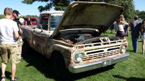 Jason and Jason's Road kill 1966 Ford pickup with a 460!