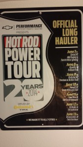 HRPT 20th anniversary Long Hauler tin sign
