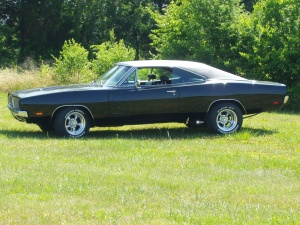 1969 Dodge Charger, Muscle car! Long hood, long trunk.