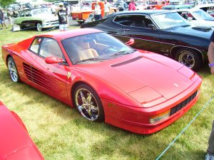Exotic - Testarossa Ferrari. Top of the line Ferrari in it's day.