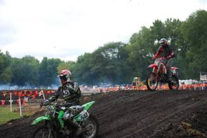 Hare scramble I raced my dirt bike in. It's a 2 stroke! Honda 125 cc