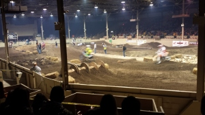 A cool dirt bike racing indoor event I went to, in my own town.